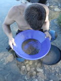 Recreational gold panning Stock Image