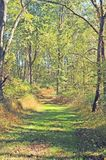 Recreational Hiking Trail Through Combs Farm. This is a recreational hiking trail that starts at the Visitor`s Center at the Battle of Monmouth, New Jersey. It Stock Photography