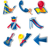 Recreational Icon set for Children -2 Royalty Free Stock Image