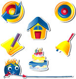 Recreational Icon set for Children -3 Royalty Free Stock Photography