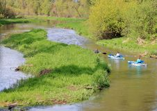 Recreational Kayaks and Creek royalty free stock photo
