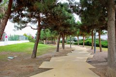 Recreational park in the city royalty free stock photography