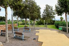 Recreational park in the city stock images