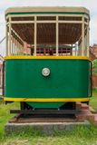 Replica of a simple train car for decoration in the park stock image