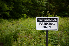 Recreational parking Royalty Free Stock Photo
