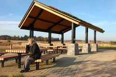 Recreational & picnic area shelter. Stock Image