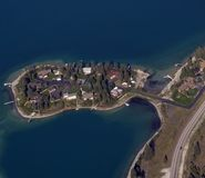 Recreational real estate. Aerial view of recreational real estate on a island Stock Photography