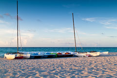 Recreational renting boats  in a tropical beach Stock Photography