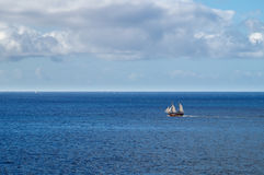 Recreational sailboat near Tenerife island Royalty Free Stock Photography