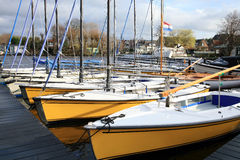 Recreational sailing boats in Netherlands Royalty Free Stock Images
