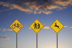 Recreational Signs Stock Photography