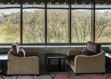 Recreational sofa near the window. Royalty Free Stock Photo