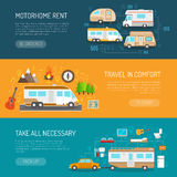 Recreational Vehicle Banners Set Stock Photography