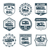 Recreational Vehicle Emblems Stock Photography