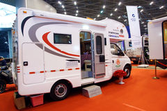 Recreational vehicle exhibition Royalty Free Stock Photos
