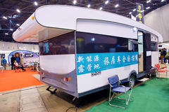 Recreational vehicle exhibition Stock Images