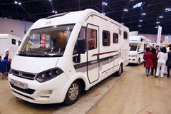 Recreational vehicle exhibition Royalty Free Stock Photography