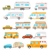 Recreational Vehicle Icons Set Royalty Free Stock Image