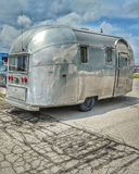 Vintage Airstream Travel Trailer Camper royalty free stock photos
