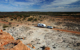 Recreational vehicle in Outback Stock Photo