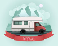 Recreational Vehicle Poster Royalty Free Stock Photography