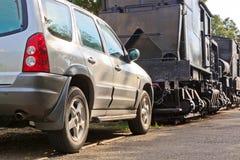 Recreational Vehicle Push the Lokomotiv Stock Photography