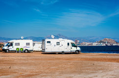 Recreational vehicle station Stock Photography