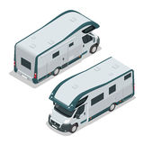 Recreational vehicles for family tourism and vacation. Flat 3d vector isometric illustration Stock Photography
