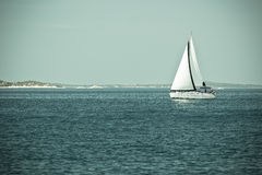 Recreational Yacht at Adriatic Sea Royalty Free Stock Photos