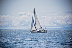 Recreational Yacht at Adriatic Sea Royalty Free Stock Image