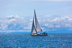 Recreational Yacht at Adriatic Sea Royalty Free Stock Images