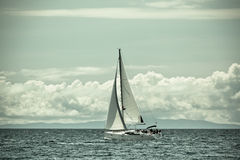 Recreational Yacht at Adriatic Sea Royalty Free Stock Photos