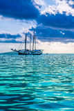 Recreational Yacht at the Indian Ocean Stock Image