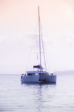 Recreational Yacht at the Indian Ocean Royalty Free Stock Photo