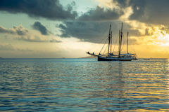 Recreational Yacht at the Indian Ocean Stock Images