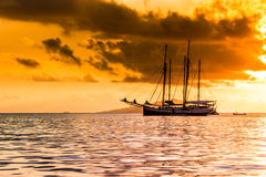 Recreational Yacht at the Indian Ocean Stock Photo