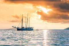 Recreational Yacht at the Indian Ocean Royalty Free Stock Images