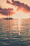 Recreational Yacht at the Indian Ocean Royalty Free Stock Photography