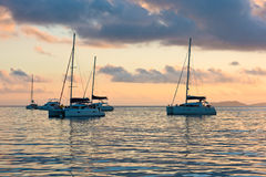 Recreational Yachts at the Indian Ocean Stock Photography