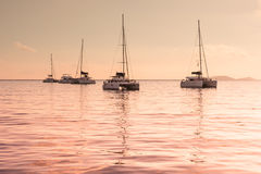 Recreational Yachts at the Indian Ocean Royalty Free Stock Photo