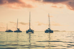 Recreational Yachts at the Indian Ocean Royalty Free Stock Photos