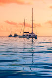 Recreational Yachts at the Indian Ocean Royalty Free Stock Photography