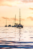Recreational Yachts at the Indian Ocean Royalty Free Stock Images