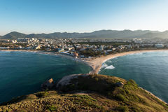 Recreio Region in Rio. Aerial View of Recreio dos Bandeirantes Region in Rio de Janeiro City royalty free stock photo