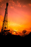 Recreption antena satelitarna i antena Fotografia Royalty Free