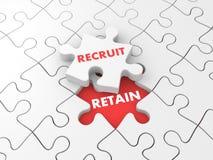 Recruit and retain Stock Photo
