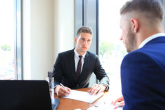Recruiter checking the candidate Royalty Free Stock Photo