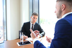 Recruiter checking the candidate Stock Images