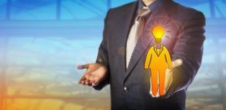 Recruiter Presenting Bright Female Employee royalty free stock image