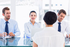 Recruiters checking the candidate during a job interview Royalty Free Stock Photos